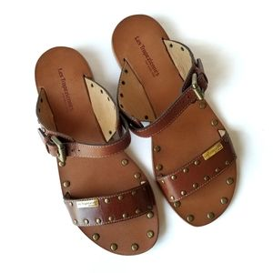 Les Tropeziennes | Leather Slip-on Sandals